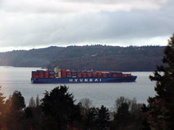 Cargo ship - Hyundai heading to Tacoma, WA