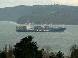 Cargo Ship the Lloyd Triestino heading for the Port of Seattle